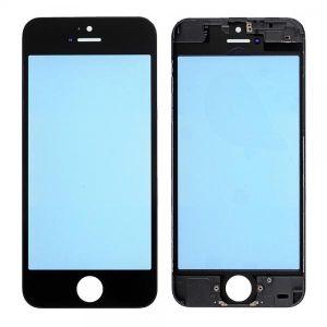 Apple İphone 5 Ocalı Çıtalı Cam Siyah