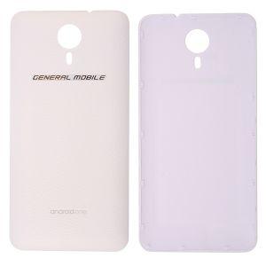 General Mobile Discovery (E3) 4G Arka Pil Kapağı-Beyaz