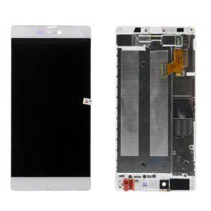Huawei Ascend P8 Ekran Dokunmatik Çıtalı Beyaz