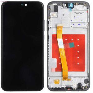 Huawei P20 Lite (ANE-LX1) Ekran Dokunmatik Çıtalı Çıkma Revize Orjinali Siyah