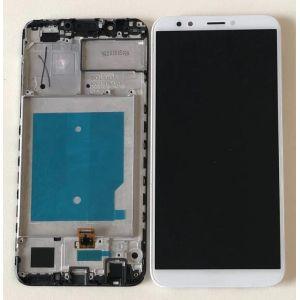 Huawei Y7 2018 (LDN-L01) Çıtalı Ekran Dokunmatik Beyaz