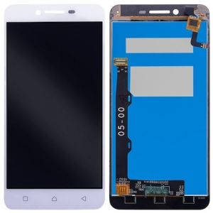 Lenova Vibe K5 Plus (A6020) Ekran+Dokunmatik-Beyaz (Siyah Filmli)