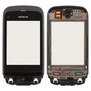 Nokia C2-02 Dokunmatik Çıtalı Siyah