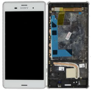 Sony Xperia (L55T-L55U-D6603-D6643) Z3 Ekran Dokunmatik (Kasalı) Çıtalı Çıkma Revize Beyaz
