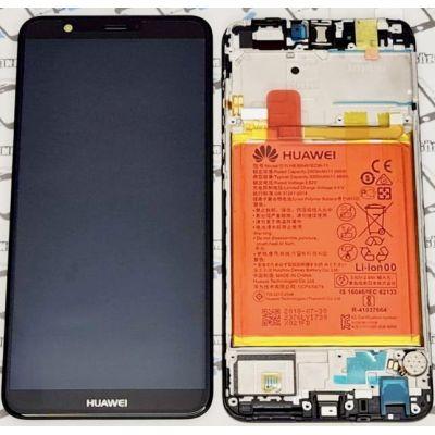 Huawei P Smart 2018 Çıtalı Bataryalı Servis Ekran+Dokunmatik-Siyah