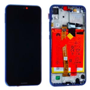 Huawei P20 Lite (ANE-LX1) Ekran Dokunmatik Çıtalı Servis Bataryalı Orjinali-Mavi