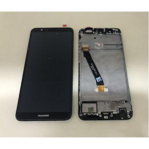 Huawei P Smart 2018 (FIG-LX1) Çıkma Çıtalı Revize Orjinali Ekran Dokunmatik Siyah