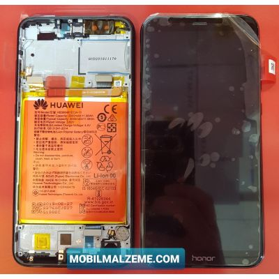 Huawei Honor 9 Lite Çıtalı (Kasalı) Bataryalı Servis Ekran Dokunmatik Mavi