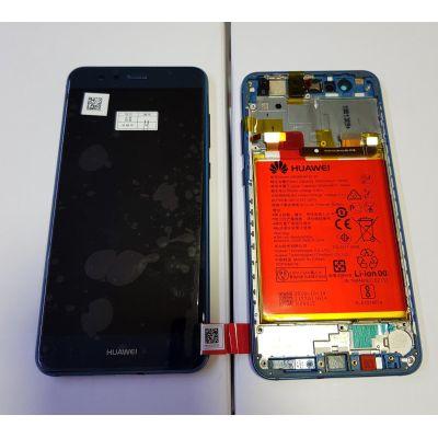 Huawei P10 Lite (WAS-LX1A) Ekran Dokunmatik Çıtalı Servis Bataryalı Mavi