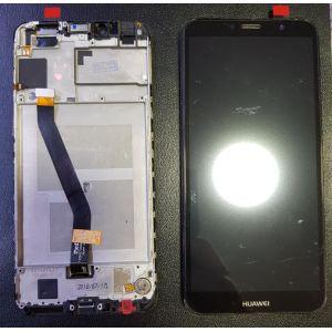 Huawei Y6 2018 (ATU-L21) Çıtalı Çıkma Revize Orjinal Ekran Dokunmatik Siyah