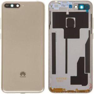 Huawei Y6 2018 (ATU-L21) Kasa Kapak-Gold Delikliksiz